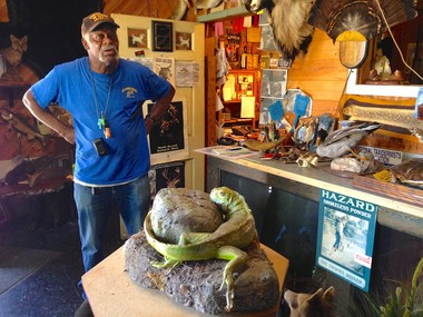 Art Ledger, 68, stands inside his longtime taxidermy shop on West 48th Street in Cleveland. If the Dream Neighborhood idea takes off, he hopes to gain support for transforming the space into an international museum showcasing a broad array of animals.