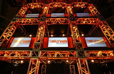 NPi Audio Visual Solutions spent four weeks building a 30-foot high Hollywood Squares game show set weighing more than 5,000 pounds on the main floor of Content Marketing World 2015.