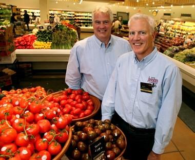 Tom, left, and Jeff Heinen,at Heinen's Fine Foods in Pepper Pike.