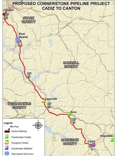New Ohio Shale Oil Pipeline To Supply Marathons Canton Refinery - Gasoline-pipeline-map-us
