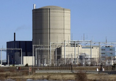 FirstEnergy Nuclear Operating Co. has built a reinforced and hardened auxiliary building near the power plant's reactor containment building shown here in this 2004 file picture. The auxiliary building houses more than a quarter million gallons of water and twin gas turbine generators and pumps to keep the reactor's core cool during a major catastrophe such as occurred in Fukushima, Japan, in 2011. The U.S. Nuclear Regulatory Commission now requires owners of nuclear power plants to prepare for such severe emergencies.