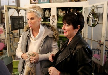 Actress Monica Potter, left, has opened a second Monica Potter Home store inside the Arcade in Downtown Cleveland.