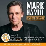 Mark Hamill will give the closing CMWorld address on Thursday afternoon.