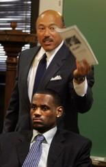 Attorney Fred Nance defends his client LeBron James against a 2005 civil lawsuit.