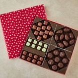 Fannie May's create-your-own Valentne's Day chocolates.