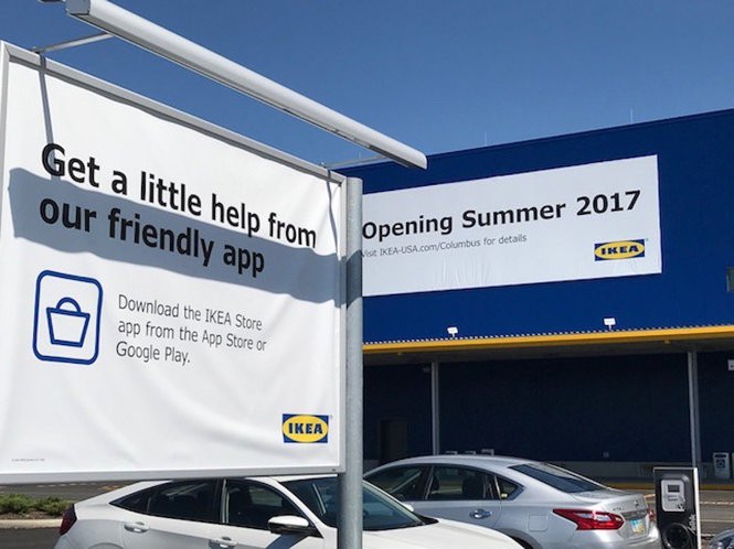 Ikea officials encourage shoppers headed to the new Columbus store to download their app, that makes shopping easier to navigate the new 354,000 square-foot-store.