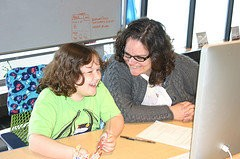 A mother and daughter participate in last year's Mother's Day Hack Day.