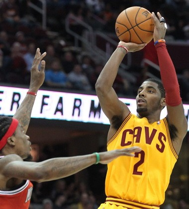 Cleveland Cavaliers point guard Kyrie Irving will take on coach Byron Scott in a shootout on Tuesday. Irving will take part in the 3-point contest on All-Star Weekend.