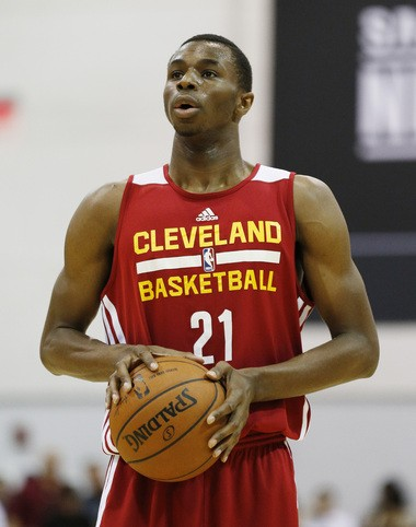 Andrew Wiggins played with the Cavs summer league team before he was traded to Minnesota.