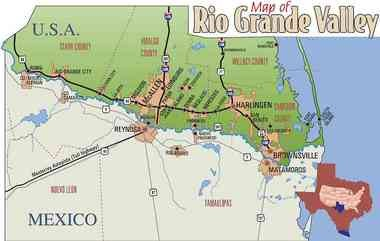 The Rio Grande Valley in south Texas, where Mike Mancias grew up and went to college.