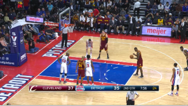 bd9952838cd The frame-by-frame of a LeBron James free throw during a game last month in  Detroit. Since Nov. 10