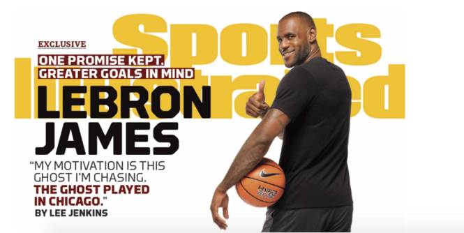 LeBron James on the cover of Sports Illustrated this week for the 25th time.