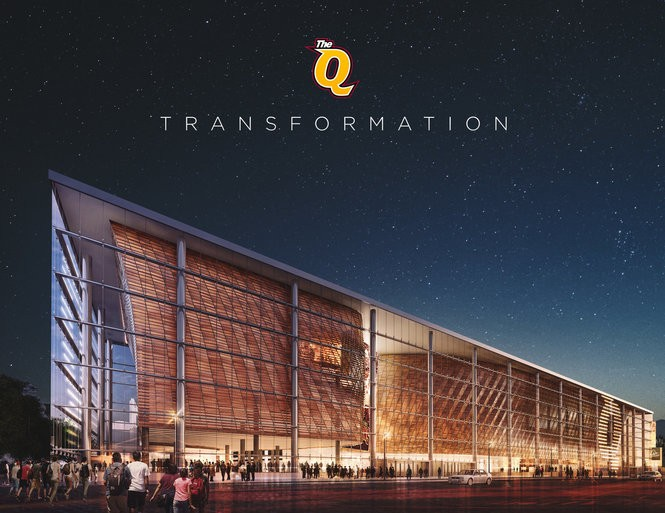Here is what Quicken Loans Arena could look like, from Huron Road, after a $140 million renovation paid for by taxpayers and the Cavs.