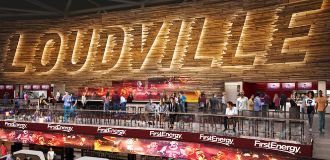 The new Loudville bar area would allow fans to eat, drink and socialize while watching the game.