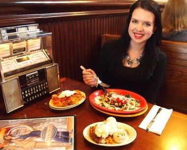 Sarah Hoover of Yours Truly Restaurants tests the restaurant's specials.