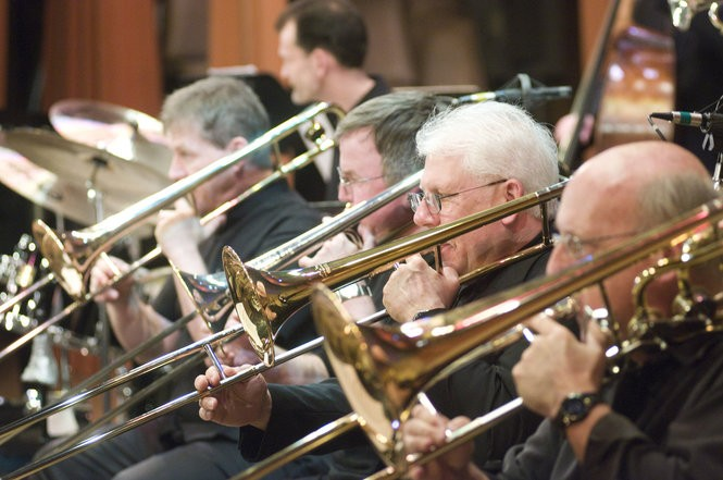 Members of Cleveland Jazz Orchestra will perform April 6 in Chagrin Falls.