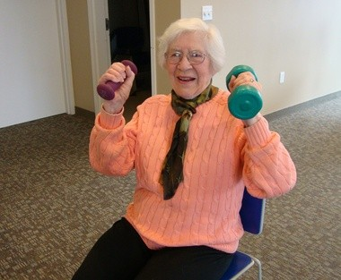 Exercise class at the Orange Senior Center (submitted photo).