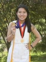 Orange High School valedictorian Amy Wu.