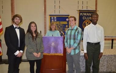 Orange High School seniors Zayn Dweik, Jordan Brown, Ian Newman, and Alade Malik were among those recognized by Lander Circle Kiwanis for their dedicated service to the community.