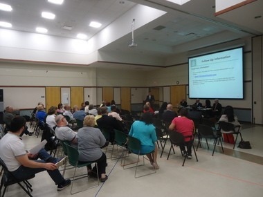 Cleveland Heights, U.S. EPA and Justice Department officials hosted a informational meeting on a Consent Decree for sewer compliance with the Clean Water Act on May 16 at the Community Center.
