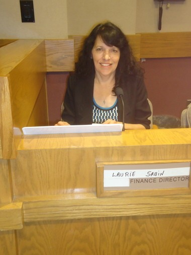 A new nameplate is on the agenda for Cleveland Heights' new Finance Director, Laurie Sabin, who started with the city on June 5, coming over from similar positions in the City of Rossford and Owens Community College in northwest Ohio.