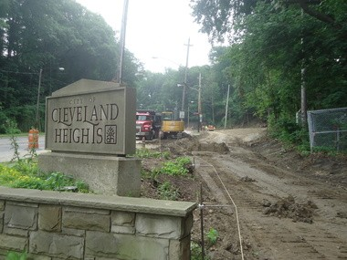 Working is progressing on the multi-purpose fitness trail going in on Cedar Hill, a gateway into Cleveland Heights.