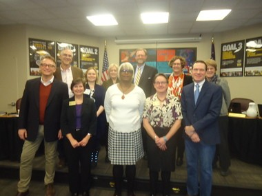 Municipal officials from both University and Cleveland Heights turned out for the Jan. 9 reorganizational meeting and swearing in of new CH-UH School Board members.