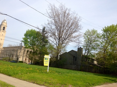 Council voted 5-2 last year in favor of a townhouse development on this city-owned lot at Cedar and Coventry roads, over the objections of some residents, but at this point, it remains vacant.