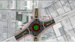 The city of Westlake plans to spend $2.5 million to transform the high-accident intersection at Canterbury and Center Ridge roads into a roundabout like the one pictured.