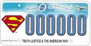 It's a bird. It's a plane. It's a Superman license plate