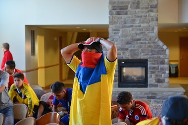 Colombian youth soccer teams take break from Continental Cup