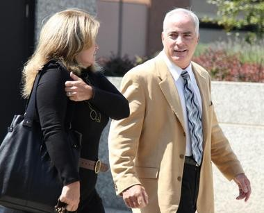 Michael Forlani enters U.S. District Court in Akron, Ohio, in an earlier hearing.