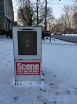 A Cleveland Scene distribution box.