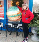 The Chagrin Falls Popcorn Shop's giant popcorn ball was returned.
