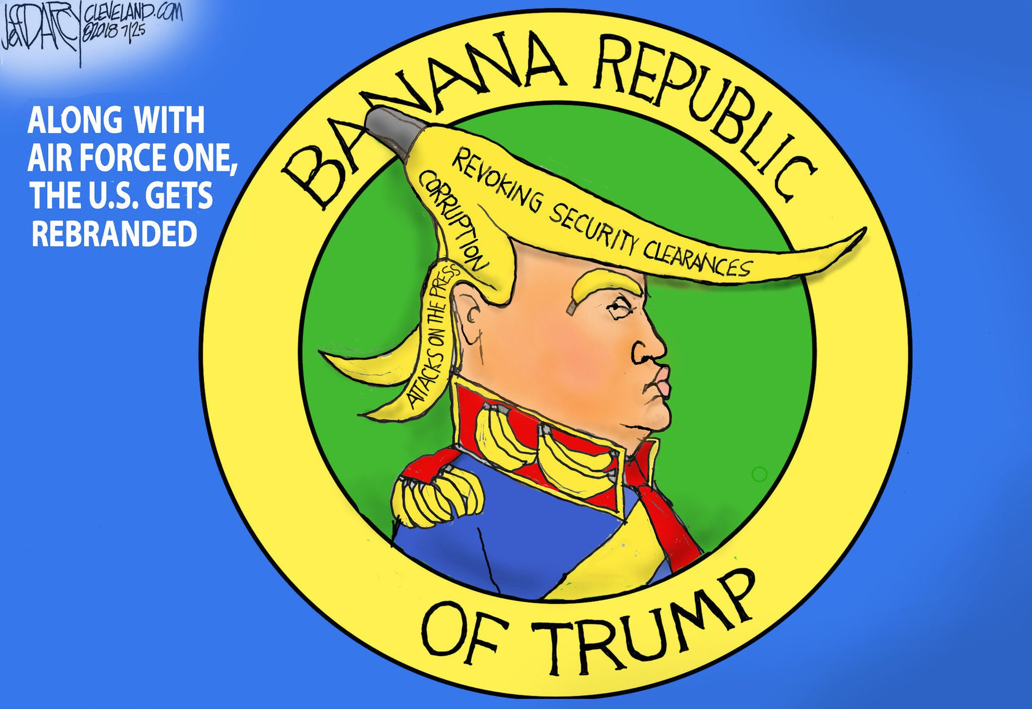 Trump revoking security clearances is bananas: Darcy cartoon ...