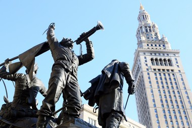 Soldiers and Sailors Monument and the Terminal Tower have been signature fixtures in downtown Cleveland since before the 1936 Republican convention in the city.
