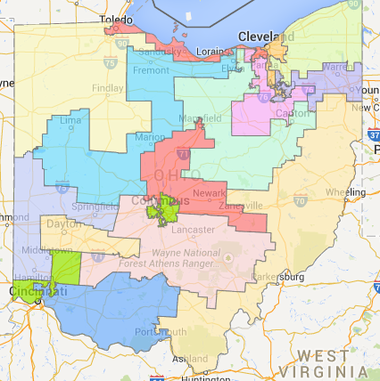 Ohio congressional districts.