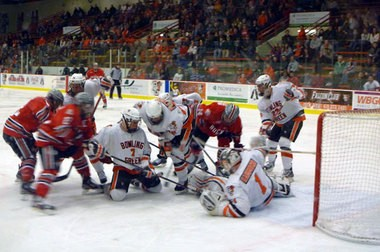 Bowling Green hosts Ohio State in hockey.