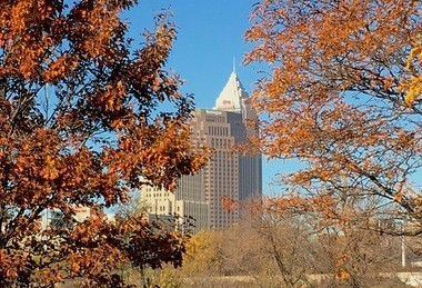 Fall in downtown Cleveland.