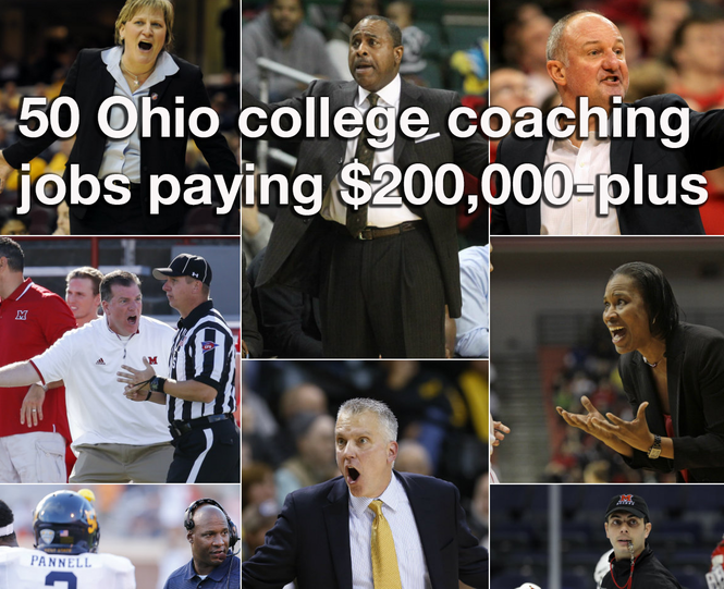 50 Ohio college head coaching jobs that pay $200,000 or more