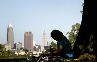 Cleveland's population is down, like most large cities in Ohio.