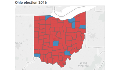 Mapping the Ohio presidential election results by county - cleveland.com