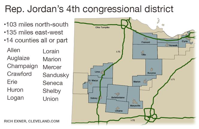 Rep. Jim Jordan's 4th congressional district.