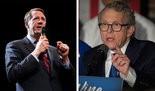 Ohio gubernatorial candidates Richard Cordray, left, and Mike DeWine.