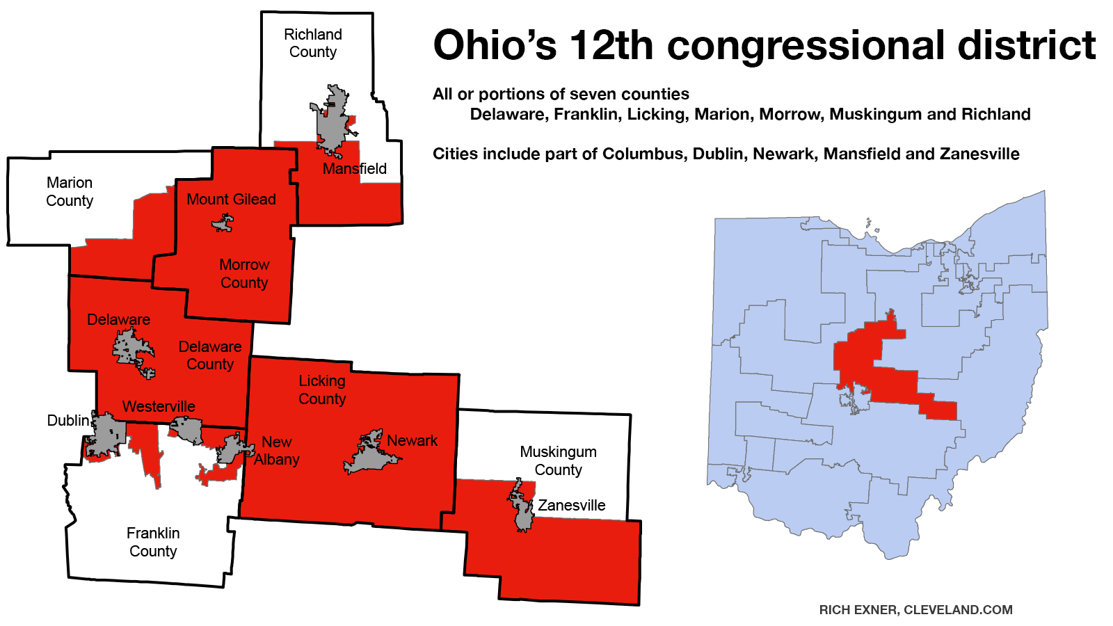 Map Makes Republicans Strong Favorites To Retain Pat Tiberi S 12th