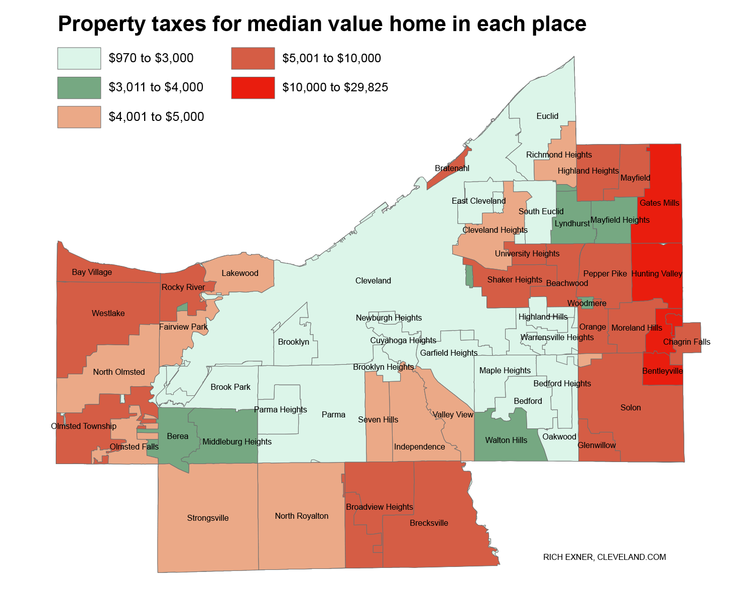 Property Tax Bite Ranking Cuyahoga County Towns For Bills On Typical Homes In Each City Village Cleveland Com I just wanted a nice map of the bay area for my office wall, since i haven't lived here too long and i'm still learning the geography. property tax bite ranking cuyahoga