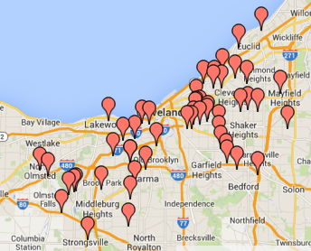 Shooting deaths in Cuyahoga County this year through May total 52.