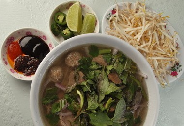 Pho is a dish emblematic of Vietnamese cuisine, one that's especially welcome during the chilly winter months in Northeast Ohio. At Minh Anh restaurant, Pho Tai Chin or the Cinnamon Rare and Well Done Beef and Beef Balls, is a huge hit.