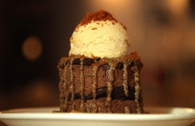 Pastry Chef Emma Scheer's Chocolate Tower is the magnum opus of desserts at Humble Wine Bar, in Lakewood.