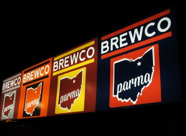 Brewco has raised a flag -- OK, OK, actually they're big bar signs -- to mark the invasion of craft beer in Parma. The bar-restaurant also rotates 20 or so local brews.